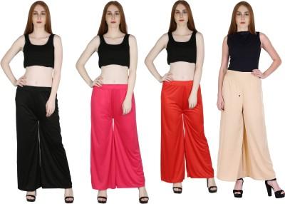 Kiba Retail Regular Fit Women Red, Pink Trousers