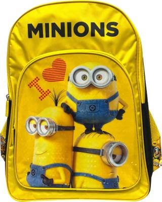 Despicable Me I Love Minions Yellow and Black 14' ' School Bag