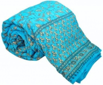 Kanthaexports Printed Double Quilt(Cotton, Blue) at flipkart