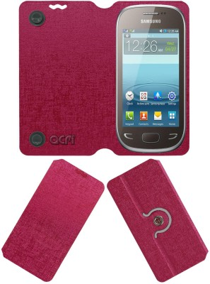 ACM Flip Cover for Samsung Rex 90 S5292(Pink, Cases with Holder)