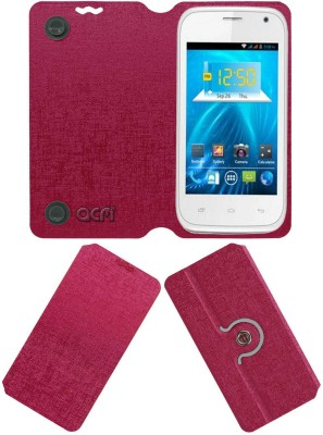 ACM Flip Cover for Spice Smart Flo Ivory 2 Mi-423(Pink, Cases with Holder)