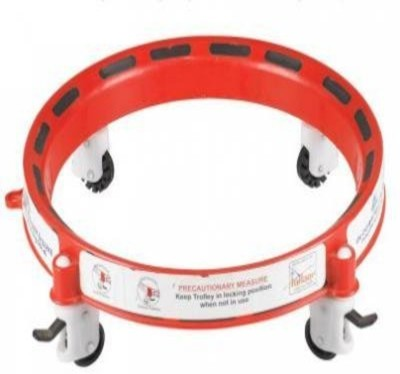 MDS Gas Cylinder Trolley With Wheels | Gas Trolly | Lpg Cylinder Stand Gas Cylinder Trolley(Red)  available at flipkart for Rs.349