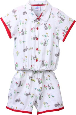 Lilpicks Printed Baby Girl's Jumpsuit