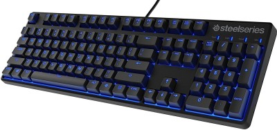 SteelSeries Apex M400 Illuminated Mechanical - Linear Switch - Blue LED Backlit - Media Controls - Steel Back Plate Wired USB Gaming Keyboard(Black) at flipkart