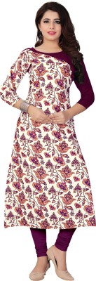INFOTECH Casual Floral Print Women Kurti(Multicolor)