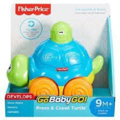 Fisher-Price Go Baby Go! Press & Crawl Turtle(Multicolor)  available at flipkart for Rs.3631
