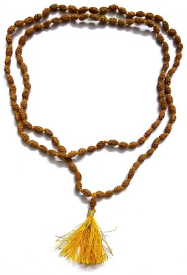 Numeroastro Natural & Original 2 Mukhi Rudraksha Beads Mala For Health,Wealth & Good Luck. Wood Chain at flipkart