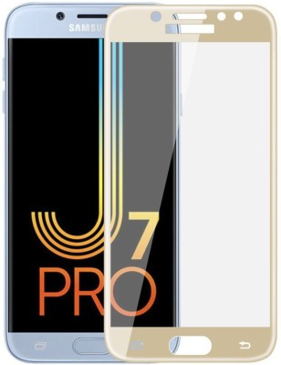 Maxpro Edge To Edge Tempered Glass for 5D Tempered Glass Samsung Galaxy J7 Pro Gold