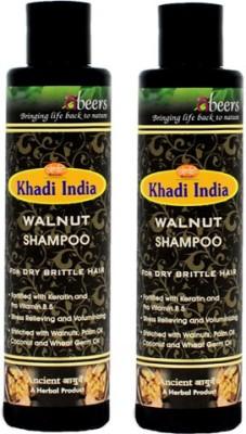 khadi abeers WALNUT SHAMPOO - PACK OF 2 PCS(225 ml)