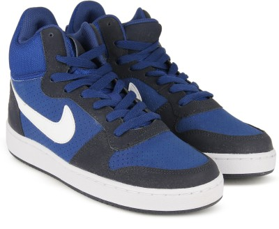Nike COURT BOROUGH MID Mid Sneakers For Men(Blue) 1