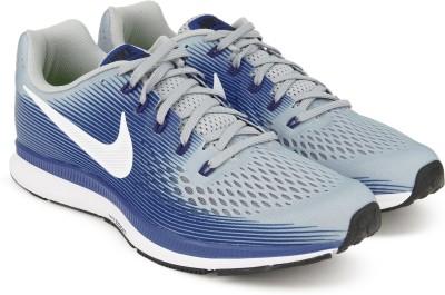 Nike AIR ZOOM PEGASUS 34 Running Shoes For Men(Blue, Grey) 1