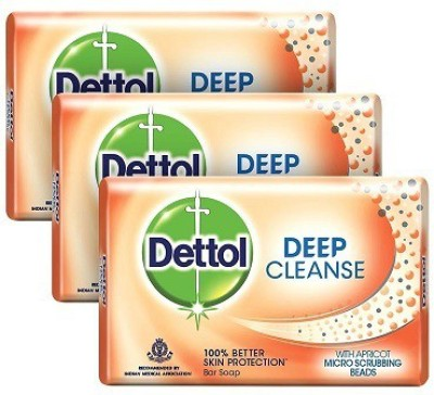 Dettol Deep Cleanse Soap(225 g, Pack of 3)