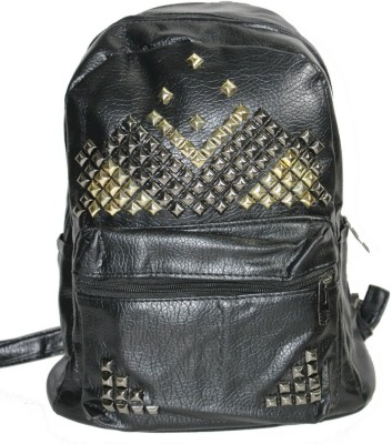 churo STUDDED Waterproof Backpack Black, 5 L churo Laptop Bags