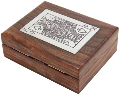 Kartique Golden Playing cards with Handmade wooden Box of Sheesham(Golden)  available at flipkart for Rs.490