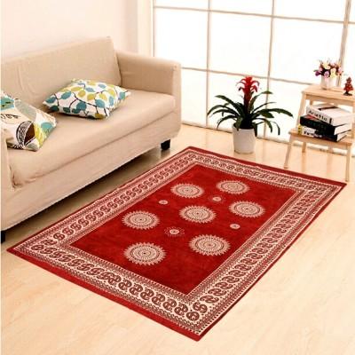 The Real Time Trendz Maroon Cotton Carpet(121 cm  X 183 cm) at flipkart