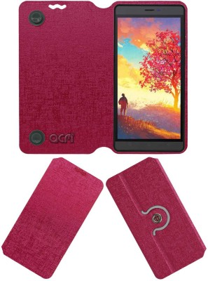 ACM Flip Cover for Karbonn Aura Note Play(Pink, Cases with Holder, Artificial Leather)