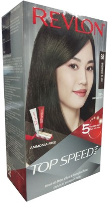 Revlon Top Speed 68 Brownish Black Hair Color(Brownish Black)