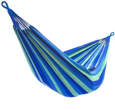 Iris Portable Camping Outdoor Cotton Hammock(Blue, Green)