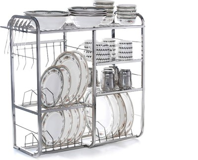 Home Creations 24 inch wall mount Kitchen Dish Rack Stainless Steel Kitchen Rack(Steel)