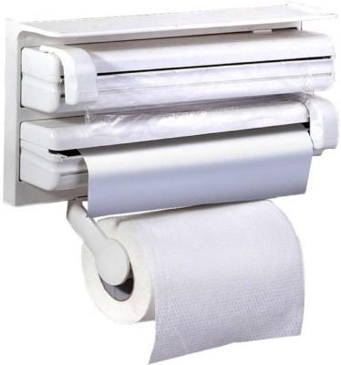 Online World Triple Paper Dispenser For Cling Film Wrap Aluminium Foil & Kitchen Roll DZ_Paper_02_white Paper Dispenser  available at flipkart for Rs.555
