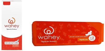 Wahey Combo Pack Of 25 Perfumed Panty Liners and Disposable Napkins with Wings (10 Pads) Sanitary Pad(Pack of 2)  available at flipkart for Rs.99