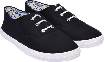 Jade JC MATTY DERBY Canvas Shoes For Women(Black)