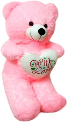 ATTRACTIVE 1 FEET CUTE STANDING TEDDY BEAR WITH HEART  - 38 cm(Pink)  available at flipkart for Rs.299