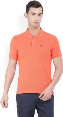 U.S. Polo Assn Solid Men Polo Neck Orange T-Shirt