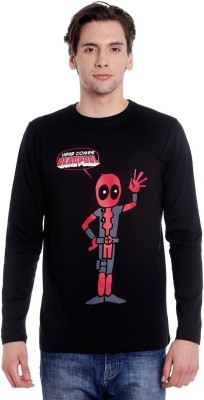 Superhero Deadpool Men/'s Long Sleeve T-Shirt Marvel Black