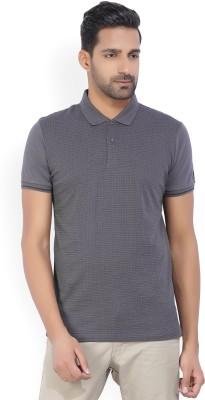 Arrow New York Printed Men's Polo Neck Grey T-Shirt