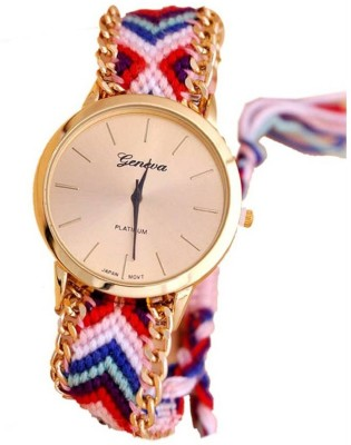 True Colors Geneva Look Multicolors Belt Analog Watch   For Women True Colors Wrist Watches