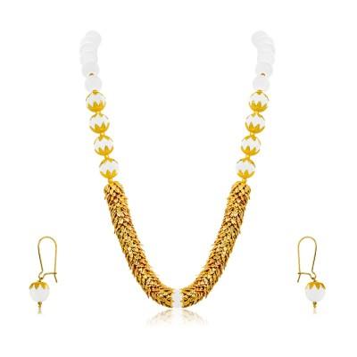 NAKABH Glass, Alloy Jewel Set Multicolor NAKABH Jewellery Sets