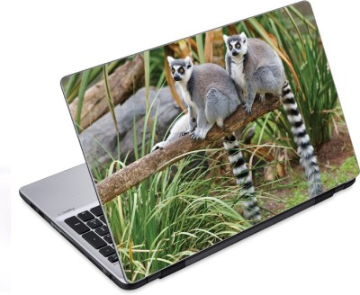 ezyPRNT Long Tailed Lemurs Wildlife (14 to 14.9 inch) Vinyl Laptop Decal 14