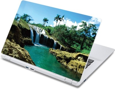 ezyPRNT The Amazing small Waterfall Nature  13 to 13.9 inch  Vinyl Laptop Decal 13