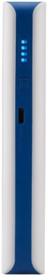 Syska X-100 Power Bank, 10000 mAh (White & Blue)