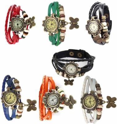 SIMONE rakhi collation butterfly brown leather belt attractive women RAKHI Watch  - For Girls
