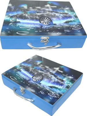 ENIGMATIC WOODWORKS Kids Storage Box – Car theme. Good quality, durable and design as per kids' interest