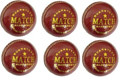 Tima Set Of 6 Match Leather Cricket Ball 2 Part Cricket Leather Ball   Size: 5 Pack of 6, Red Tima Cricket Balls