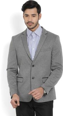 Arrow New York Printed Single Breasted Formal Men's Blazer(Grey)