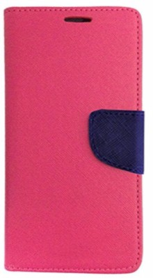 Avzax Flip Cover for Karbonn Smart A7 Star(Pink, Cases with Holder)