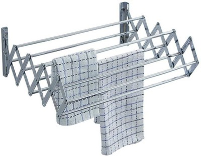 FAVOUR 1.5 feet Pure Stainless Steel Wall Mounted Stainless Steel Wall Cloth Dryer Stand(Silver)  available at flipkart for Rs.999