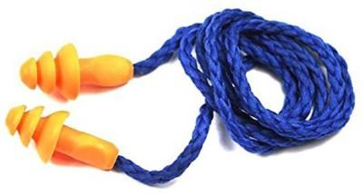 Vezual 3M 1270 Corded Reusable (3 Ear Plug) Ear Plug & Nose Clip(Orange)