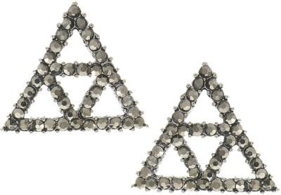 Anuradha Art Jewellery Korean Earrings Cubic Zirconia Metal Stud Earring