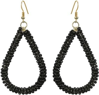The Indian Handicraft Store Tear drop Black Beads Earring Alloy Drop Earring