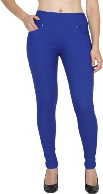 Rzlecort Blue Jegging Solid Rzlecort Women\'s Jeggings