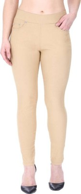 Rzlecort Brown Jegging Solid Rzlecort Women's Jeggings