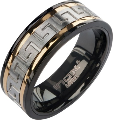 Inox Jewelry Greek Key Eternity Stainless Steel Ring