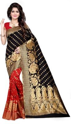 The Fashion Outlets Woven Kanjivaram Cotton, Silk Saree(Red)