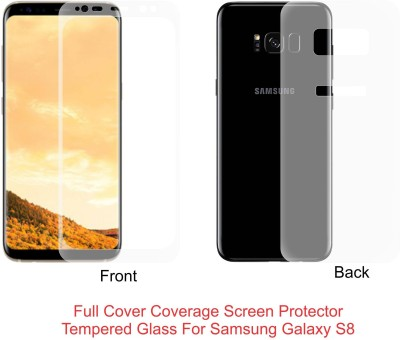 Case Creation Front and Back Screen Guard for Samsung Galaxy Note 8 6.3 inch(Pack of 2)