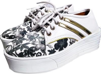 Fashionitz Sneakers For Women(White)